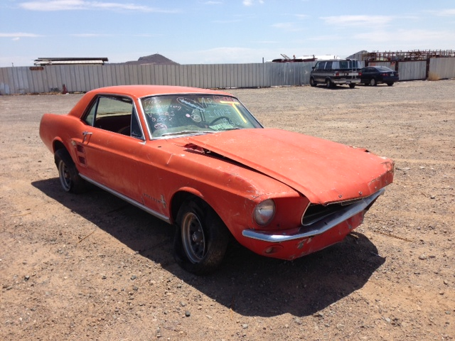 1967 Ford Mustang (#67FO1085)   Desert Valley Auto Parts