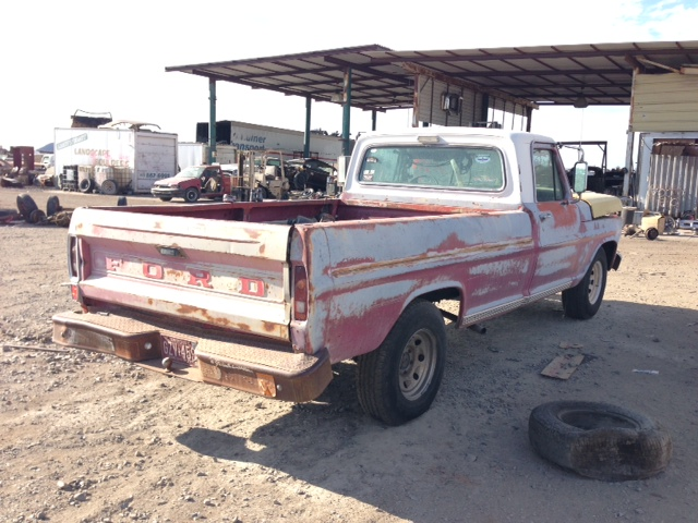 1969 Ford Truck Parts: Used 1969 Ford Truck Ford F100 Pickup