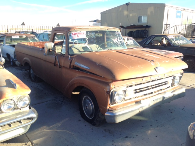 1962 Ford F100 Unibody 1 2 Ton Long Bed Truck 62fo1093r