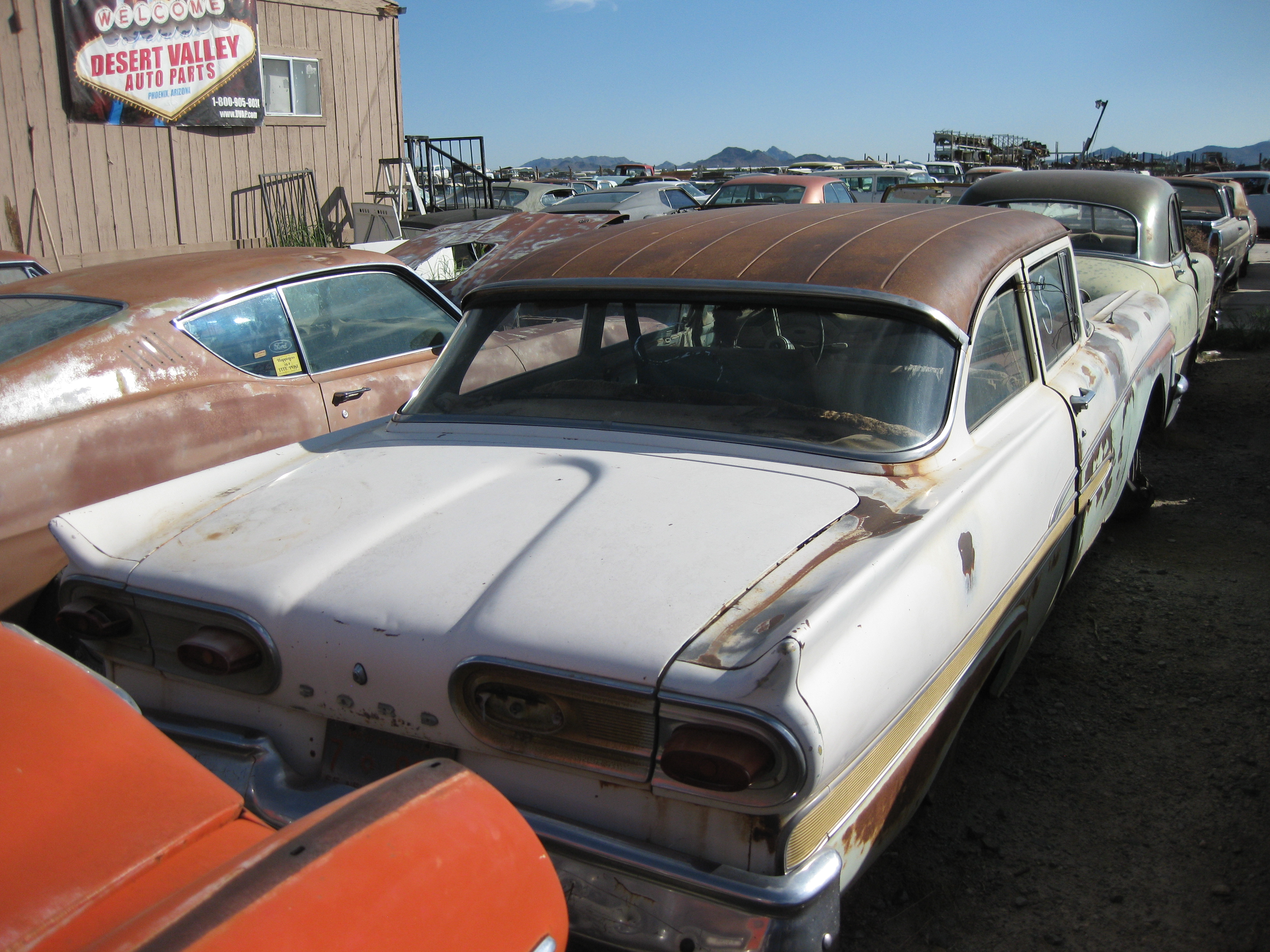 1958 Ford Fairlane 58fo2071d Desert Valley Auto Parts